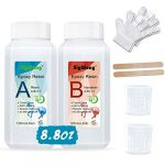 Epoxy Resin Clear Crystal Coating Kit 240ml/8.8oz - 2 Part Casting Resin for Art