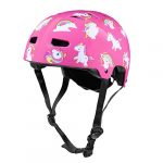 CLISPEED Kids Helmet Adjustable Children Head Protector Head Guard Protective Gear for Skating Cycling Scooter Pink