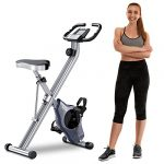 BCAN Folding Exercise Bike-Stationary Bike Foldable with Magnetic Resistance