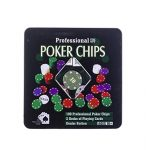 Whitehouse Leisure Professional Texas Hold'em Poker Set With 100 Chips in Hard Storage Tin