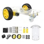 The perseids 2WD Robot Chassis Kit Smart Car Educational Toy DIY Programmable Project with Speed Encoder for Arduino/Microbit/Raspberry Pi (2WD)