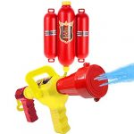 Goolsky Fireman Toys Backpack Water Pistol Spraying Toy Blaster Extinguisher with Nozzle and Tank Set Children Outdoor Water Beach Toy for Kids Gifts