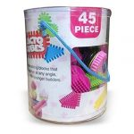 45 Piece Cacto Cubes Stickle Bricks Building Blocks Construction Toy Set   Starter Tube Pink Sensory Sticking & Joining Building Blocks   Stimulate Your Child's Special Awareness for Age 1+ Year Kids