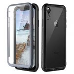 Prologfer iPhone XR Case 360 Degree Protection Built-in Screen Protector Cover Shockproof Dust-Proof Shell Fit Rugged Clear Bumper Defender Armor Case for iPhone XR