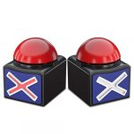 Beanlieve Game Buzzers With Sound - 2 Pack Buzzer Button With Lights