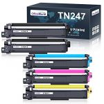 OfficeWorld TN247 TN243 Toner Cartridges Replacement for Brother TN-247 TN-243 for DCP-L3550CDW DCP-L3510CDW
