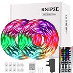 Ksipze Led Strip Lights 15m RGB Led Lights SMD 5050 LEDs Rope Light with Remote Control and Control Box Led Lights Strip with Multi-Color Lights for Bedroom Kitchen Holiday Decoration            [Energy Class A+++]