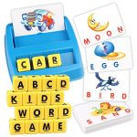 Sunarrive Upgraded Matching Letter Spelling Word Game - Preschool Educational Learning Activities Toys Gifts for Kids Boys Girls Age 3 4 5 6 7 8 Year Olds - Toddlers Children Board Games Presents