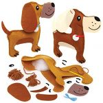 Baker Ross FE367 Dog Cushion Sewing Kits - Pack of 2