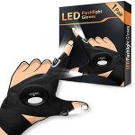 Gloves with Lights Gifts for Dad Gadgets - LED Gloves Gadgets for Men Christmas Stocking Fillers