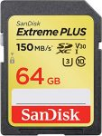 SanDisk Extreme PLUS 64GB SDXC Memory Card up to 150MB/s