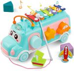 DeeXop Baby Toys 12-18 Months+ Activity Cube Toy Bus Includes Xylophone