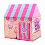 Floving Girls Indoor Outdoor Play Tents Kids Ice Cream and Bakery Shop Playhouse Palace Tents (Pink)