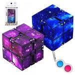 2 Pieces Infinity Cube & 1 Piece Simple Dimple – Anti-Stress Fidget Toys Suitable for Adults and Kids | Infinity Cubes & Simple dimple Mini pop it helps in Stress and Anxiety Relief (Blue & Purple)