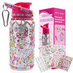 DigHealth Decorate Your Own Water Bottle for Girls with Stickers