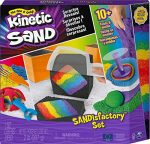 Kinetic Sand Sandisfactory Set with 2lbs of Colored and Black Kinetic Sand