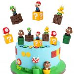 SUNSK Cake Toppers for Super Mario Cake Decoration Mario Party Supplies Kids Cupcake Toppers Decorations Ornaments 5 pcs