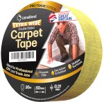 Extra Heavy Duty Strong Double Sided Carpet & Rug Gripper Tape. Professional Adhesive! Ideal for Carpets