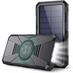 HETP Power Bank 30800mAh - QC 4.0 PD 25W Fast Charging Wireless Power Banks Solar Portable Charger [4 Output 3-Input] with LED Flashlights External Battery Pack for iPhone Samsung iPad and More