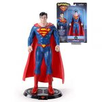 The Noble Collection DC Comics Bendyfigs Superman - 7.5in (19cm) Noble Toys DC Bendable Posable Collectible Doll Figures With Stand