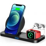 TEMINICE 3 in 1 Wireless Charger for Apple Watch & AirPods Charging Dock Station