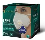 FFP2 Disposable Respirator Protective Face Masks 5 Layer Filtration System >95% | 10 Pieces | Made in EU |