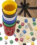 Jaques of London Liars Dice | Great Board Game | Perfect Games For Kids | Top Board Games For Families With Kids | Quality Dice Bag | Dependable Dice Cup | Since 1795