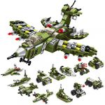 WIDELAND Building Toys Destroyer Fighter Playset 576PCS Construction Toys Kit 25in-1 STEM Educational Toys Creative Engineering Blocks Bricks Gifts Toy for Age 6 7 8 9 10+ Years Old Boys