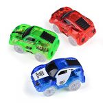Miavogo Track Cars Toys 3 Pack - Replacement Light Up Track Race Cars with 5 LED Flashing Lights