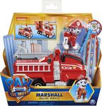 PAW PATROL Marshall's Deluxe Movie Transforming Fire Engine Toy Car with Collectible Action Figure