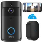 Doorbell Camera Wireless Video Doorbell HD with Chime No Monthly Fee Cloud Storage Operated Motion Detector Audio & Speaker Night Vision for iOS & Android (Doorbell + Chime)
