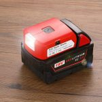 Battery Adapter for Milwaukee 18V Battery Adaptor with USB C Charger & DC Port & Work Light- Power Source Charger for Milwaukee 18V Lithium Battery (Tool ONLY)