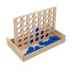 Luptons Four in a Row Wooden Board Game Folds Away Ideal For Travel and Family Fun at Home Suitable for 3+
