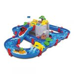 AquaPlay 8700001542 Waterway Table   Mountain Lake Water Play Canal System Toy with Lock Gates