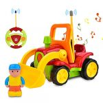 ROOYA BABY Remote Control Digger Excavator Vehicles Car for Boys Girls