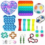Sensory Fidget Toy Set,Simple Fidget Toy Bundle For Reliever Anxiety And Autism For Kids &Adults