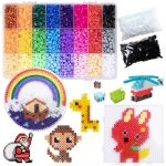 Fuse Beads Kit in 24 Colors Fusion Beads 7200pcs