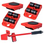 Poweka Heavy Duty Furniture Lifter Kit with 4 Sliders Heavy Furniture Roller Move Tool Set for Sofas