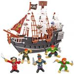 THE TWIDDLERS - Pirate Ship with Model Pirates - Toy for Kids and Enthusiasts