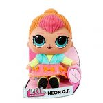 LOL Surprise Soft Plush Doll - Huggable Stuffed Toy with Changeable Outfit - Collectable - Neon QT